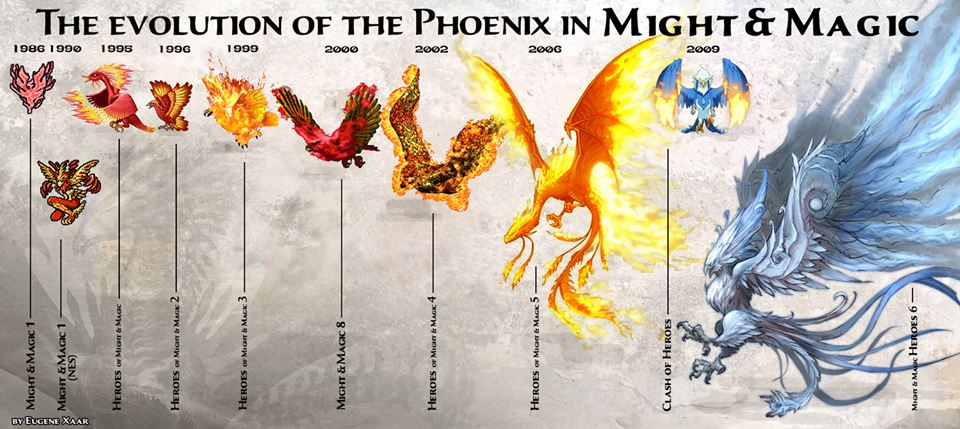 The evolution of the Phoenix in Might and Magic